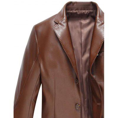 Lapel Single Breasted Faux Leather BlazerMens Blazers<br>Lapel Single Breasted Faux Leather Blazer<br><br>Closure Type: Single Breasted<br>Material: Cotton, Faux Leather, Polyester<br>Package Contents: 1 x Blazer<br>Shirt Length: Regular<br>Sleeve Length: Long Sleeves<br>Weight: 0.8600kg