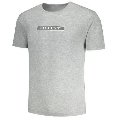 Graphic Tiepus Pattern Mens T-shirtMens Short Sleeve Tees<br>Graphic Tiepus Pattern Mens T-shirt<br><br>Collar: Round Neck<br>Material: Polyester<br>Package Contents: 1 x T-shirt<br>Pattern Type: Letter<br>Sleeve Length: Short<br>Style: Casual<br>Weight: 0.2700kg