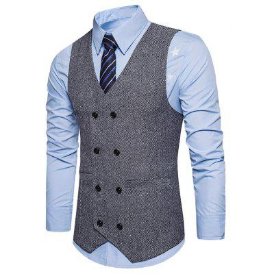 V Neck Double Breasted Belt Design WaistcoatWaistcoats<br>V Neck Double Breasted Belt Design Waistcoat<br><br>Closure Type: Double Breasted<br>Collar: V-Neck<br>Material: Cotton, Polyester<br>Package Contents: 1 x Waistcoat<br>Shirt Length: Regular<br>Style: Fashion<br>Thickness: Standard<br>Weight: 0.3600kg