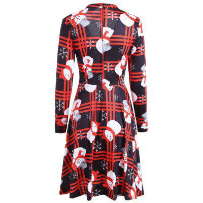 Christmas Snowman Long Sleeve Plaid Choker DressWomens Dresses<br>Christmas Snowman Long Sleeve Plaid Choker Dress<br><br>Dresses Length: Knee-Length<br>Material: Polyester, Spandex<br>Neckline: Mock Neck<br>Package Contents: 1 x Dress<br>Pattern Type: Plaid<br>Season: Spring, Fall<br>Silhouette: Shift<br>Sleeve Length: Long Sleeves<br>Style: Novelty<br>Weight: 0.3700kg<br>With Belt: No
