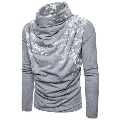 Cowl Neck Accordion Pleat Splatter Paint T-shirtMens Long Sleeves Tees<br>Cowl Neck Accordion Pleat Splatter Paint T-shirt<br><br>Collar: Cowl Neck<br>Material: Cotton, Polyester<br>Package Contents: 1 x T-shirt<br>Pattern Type: Print<br>Sleeve Length: Full<br>Style: Casual, Streetwear, Fashion<br>Weight: 0.4700kg