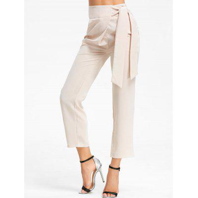 High Wasited Tie Up Pants
