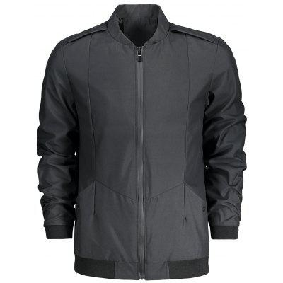 Zip Fly Stand Collar Jacket