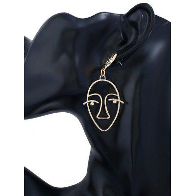 Geometric Face Hollow Stud EarringsEarrings<br>Geometric Face Hollow Stud Earrings<br><br>Earring Type: Stud Earrings<br>Gender: For Girls,For Women<br>Length: 6.2cm<br>Metal Type: Alloy<br>Package Contents: 1 x Earring(Pair)<br>Shape/Pattern: Face<br>Style: Gothic<br>Weight: 0.0120kg