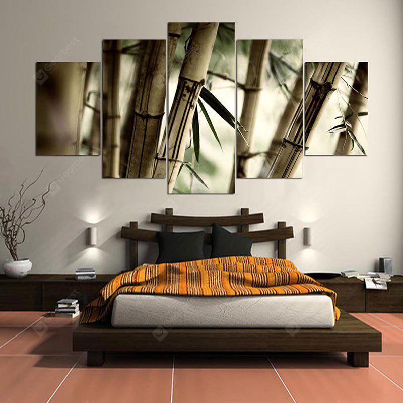 Bamboos Patterned Unframed Canvas Wall Art Paintings
