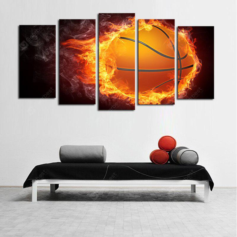 Fire Football Printed Unframed Canvas Paintings