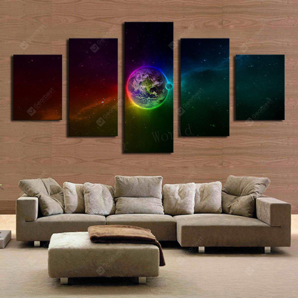 Galaxy Earth Pattern Unframed Canvas Paintings