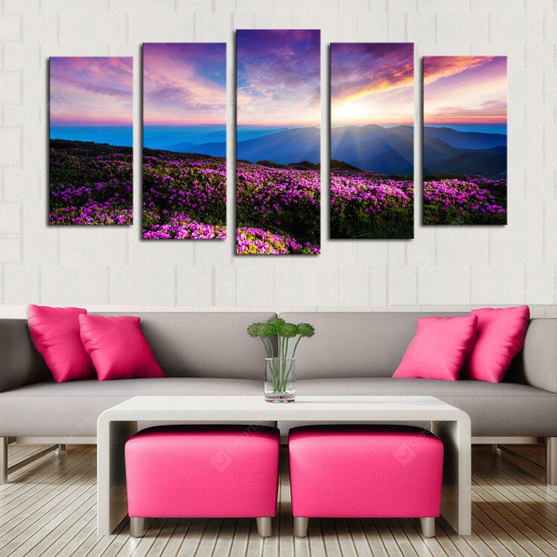 Lavender Pattern Unframed Canvas Paintings