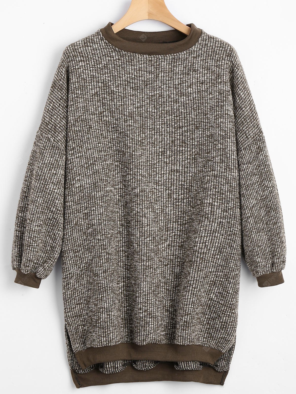 High Low Side Slit Sweater