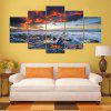 Sea Sunset Pattern Unframed Canvas Paintings - COLORFUL