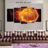Fire Football Printed Unframed Canvas Paintings - COLORFUL