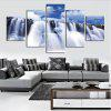 Waterfall Printed Wall Canvas Split Paintings - WHITE
