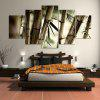 Bamboos Patterned Unframed Canvas Wall Art Paintings - CLOVER