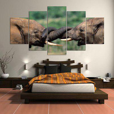 Elephants Pattern Unframed Canvas Paintings