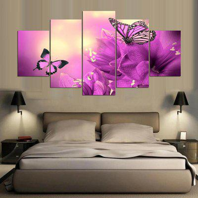Flowers Butterflies Pattern Canvas Paintings