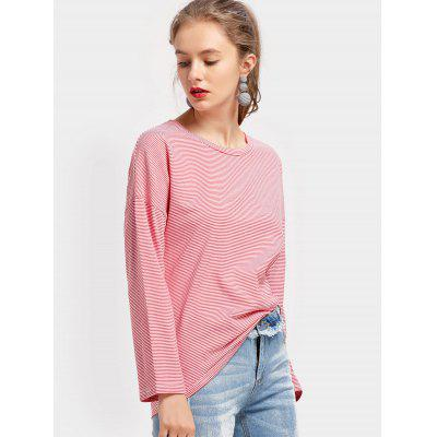 Long Sleeve Drop Shoulder Striped TeeTees<br>Long Sleeve Drop Shoulder Striped Tee<br><br>Collar: Round Neck<br>Material: Polyester<br>Package Contents: 1 x Tee<br>Pattern Type: Striped<br>Sleeve Length: Full<br>Style: Casual<br>Weight: 0.2800kg
