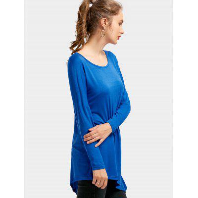 Drop Shoulder Long Sleeve Asymmetrical TeeTees<br>Drop Shoulder Long Sleeve Asymmetrical Tee<br><br>Collar: Round Neck<br>Material: Polyester<br>Package Contents: 1 x Tee<br>Pattern Type: Solid Color<br>Sleeve Length: Full<br>Style: Casual<br>Weight: 0.2750kg