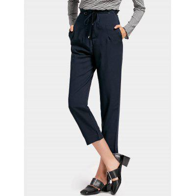 High Waisted Drawstring Capri PantsPants<br>High Waisted Drawstring Capri Pants<br><br>Closure Type: Drawstring<br>Fit Type: Straight<br>Material: Polyester<br>Package Contents: 1 x Pants<br>Pant Style: Straight<br>Pattern Type: Solid<br>Style: Casual<br>Waist Type: High<br>Weight: 0.4150kg