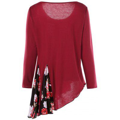 Plus Size Long Sleeve Asymmetrical TopPlus Size Tops<br>Plus Size Long Sleeve Asymmetrical Top<br><br>Collar: Scoop Neck<br>Material: Polyester, Spandex<br>Package Contents: 1 x T-shirt<br>Pattern Type: Floral<br>Season: Fall<br>Shirt Length: Long<br>Sleeve Length: Full<br>Style: Fashion<br>Weight: 0.3500kg