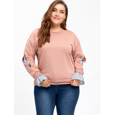 Plus Size Stripe Panel On Sleeve SweatshirtPlus Size Tops<br>Plus Size Stripe Panel On Sleeve Sweatshirt<br><br>Embellishment: Panel<br>Material: Polyester<br>Package Contents: 1 x Sweatshirt<br>Pattern Style: Striped<br>Season: Fall<br>Shirt Length: Regular<br>Sleeve Length: Full<br>Style: Casual<br>Weight: 0.5500kg