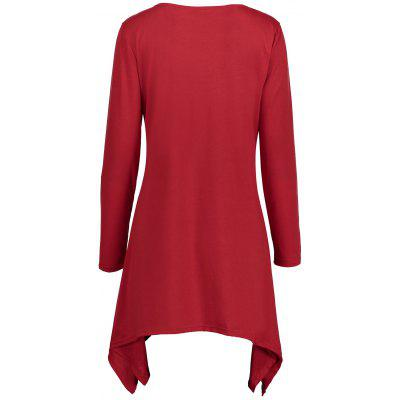 Christmas Santa Claus Asymmetrical Longline T-shirtBlouses<br>Christmas Santa Claus Asymmetrical Longline T-shirt<br><br>Collar: Round Neck<br>Material: Cotton, Polyester<br>Package Contents: 1 x T-shirt<br>Pattern Type: Print<br>Season: Fall, Spring<br>Shirt Length: Long<br>Sleeve Length: Full<br>Style: Casual<br>Weight: 0.3500kg