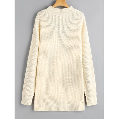 Choker Chunky High Low SweaterSweaters &amp; Cardigans<br>Choker Chunky High Low Sweater<br><br>Collar: Round Neck<br>Material: Acrylic, Cotton, Polyester<br>Package Contents: 1 x Sweater<br>Pattern Type: Solid<br>Sleeve Length: Full<br>Style: Fashion<br>Type: Pullovers<br>Weight: 0.6800kg
