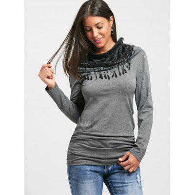 U Neck Ruched Long Sleeve T-shirtBlouses<br>U Neck Ruched Long Sleeve T-shirt<br><br>Collar: U Neck<br>Elasticity: Micro-elastic<br>Embellishment: Ruched<br>Material: Polyester, Spandex<br>Package Contents: 1 x T-shirt<br>Pattern Type: Solid Color<br>Season: Fall, Spring, Winter<br>Shirt Length: Regular<br>Sleeve Length: Full<br>Style: Casual<br>Weight: 0.4000kg