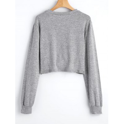 Twist Heathered Cropped SweatshirtSweatshirts &amp; Hoodies<br>Twist Heathered Cropped Sweatshirt<br><br>Clothing Style: Sweatshirt<br>Material: Cotton, Polyester<br>Package Contents: 1 x Sweatshirt, 1 x Sweatshirt<br>Pattern Style: Others<br>Shirt Length: Short<br>Sleeve Length: Full<br>Weight: 0.2300kg