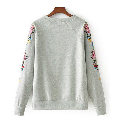 Embroidered Sleeve Raglan Sleeve SweatshirtSweatshirts &amp; Hoodies<br>Embroidered Sleeve Raglan Sleeve Sweatshirt<br><br>Clothing Style: Sweatshirt<br>Material: Cotton, Polyester<br>Package Contents: 1 x Sweatshirt<br>Pattern Style: Floral<br>Shirt Length: Regular<br>Sleeve Length: Full<br>Weight: 0.4650kg