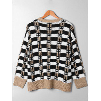 Drop Pocket Plaid SweaterSweaters &amp; Cardigans<br>Drop Pocket Plaid Sweater<br><br>Collar: Round Neck<br>Material: Acrylic<br>Package Contents: 1 x Sweater<br>Pattern Type: Striped, Plaid<br>Season: Fall, Spring<br>Sleeve Length: Full<br>Style: Casual<br>Type: Pullovers<br>Weight: 0.4100kg