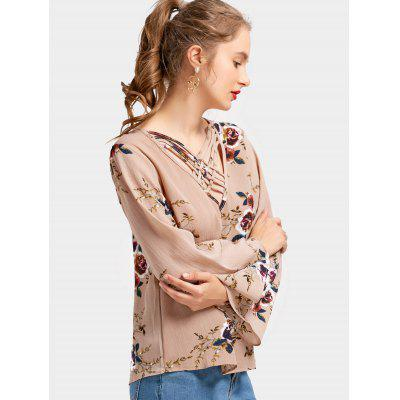 Floral Print Criss Cross BlouseBlouses<br>Floral Print Criss Cross Blouse<br><br>Collar: Plunging Neck<br>Material: Polyester<br>Occasion: Casual<br>Package Contents: 1 x Blouse<br>Pattern Type: Floral<br>Shirt Length: Regular<br>Sleeve Length: Full<br>Style: Casual<br>Weight: 0.2000kg
