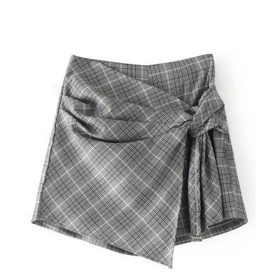 Buy CHECKED M Checked Knot Skorts for $25.82 in GearBest store