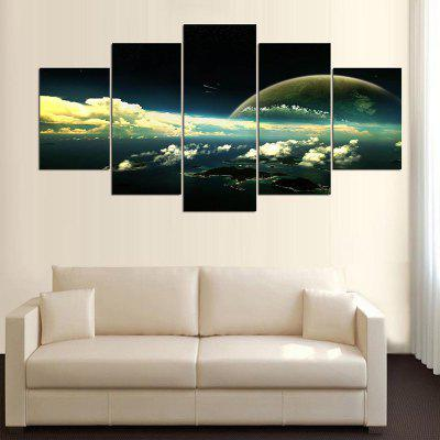 Clouds Landscape Print Wall Art Canvas PaintingsPrints<br>Clouds Landscape Print Wall Art Canvas Paintings<br><br>Features: Decorative<br>Form: Five Panels<br>Frame: No<br>Hang In/Stick On: Bathroom,Bedrooms,Cafes,Hotels,Kids Room,Kitchen,Living Rooms,Lobby,Offices,Stair<br>Material: Canvas<br>Package Contents: 1 x Canvas Paintings (Set)<br>Product Type: Art Print<br>Style: Fashion<br>Subjects: Landscape