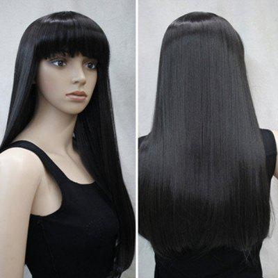 Long Neat Bang Synthetic Straight WigSynthetic Wigs<br>Long Neat Bang Synthetic Straight Wig<br><br>Bang Type: Full<br>Cap Construction: Capless<br>Length: Long<br>Length Size(CM): About 60<br>Material: Synthetic Hair<br>Package Contents: 1 x Wig<br>Style: Straight<br>Type: Full Wigs<br>Weight: 0.2000kg