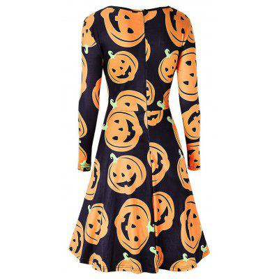 Pumpkin Face Print Halloween Swing DressWomens Dresses<br>Pumpkin Face Print Halloween Swing Dress<br><br>Dresses Length: Knee-Length<br>Material: Polyester, Spandex<br>Neckline: Round Collar<br>Package Contents: 1 x Dress<br>Pattern Type: Print<br>Season: Spring, Fall<br>Silhouette: A-Line<br>Sleeve Length: Long Sleeves<br>Style: Brief<br>Weight: 0.3700kg<br>With Belt: No
