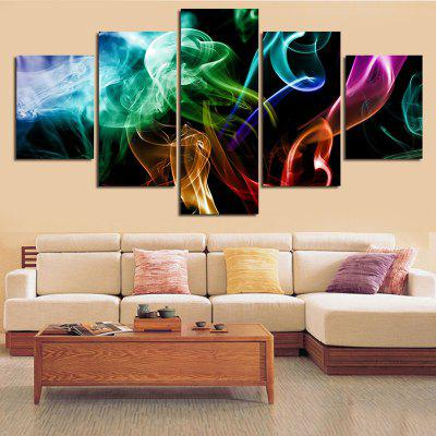Colorful Smoke Printed Unframed Split Canvas Paintings
