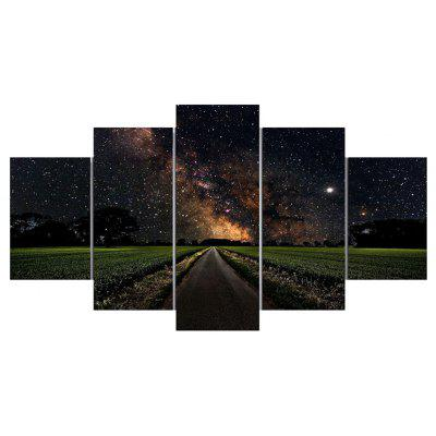 Starry Sky Road Split Canvas Wall Art Paintings