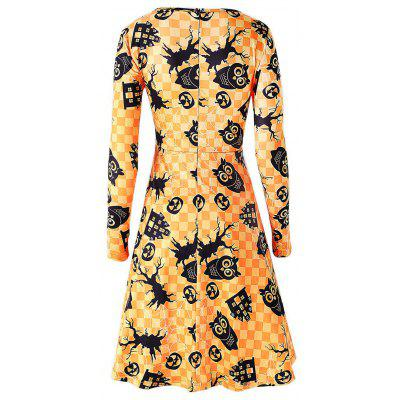 Owl and Pumpkin Print Halloween Swing DressWomens Dresses<br>Owl and Pumpkin Print Halloween Swing Dress<br><br>Dress Type: Swing Dress<br>Dresses Length: Knee-Length<br>Material: Polyester, Spandex<br>Neckline: Round Collar<br>Package Contents: 1 x Dress<br>Pattern Type: Print<br>Season: Spring, Fall<br>Silhouette: A-Line<br>Sleeve Length: Long Sleeves<br>Style: Casual<br>Weight: 0.3700kg<br>With Belt: No