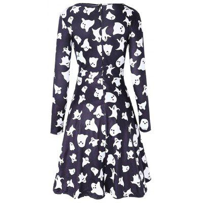 Long Sleeve Ghost Print Halloween Swing DressWomens Dresses<br>Long Sleeve Ghost Print Halloween Swing Dress<br><br>Dresses Length: Knee-Length<br>Material: Polyester, Spandex<br>Neckline: Round Collar<br>Occasion: Casual<br>Package Contents: 1 x Dress<br>Pattern Type: Print<br>Season: Fall, Spring<br>Silhouette: A-Line<br>Sleeve Length: Long Sleeves<br>Style: Casual<br>Weight: 0.3700kg<br>With Belt: No