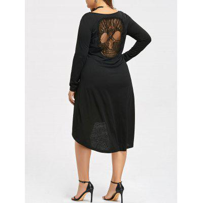 Halloween Hollow Out Skull Plus Size Dress