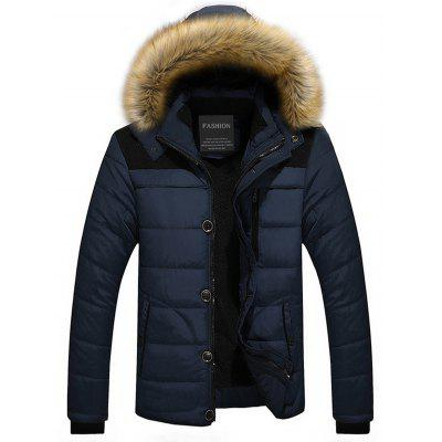 Faux Fur Trim Hooded Puffer Jacket new original touch glass touch screen panel new for 6av7890 hmi ipc677c