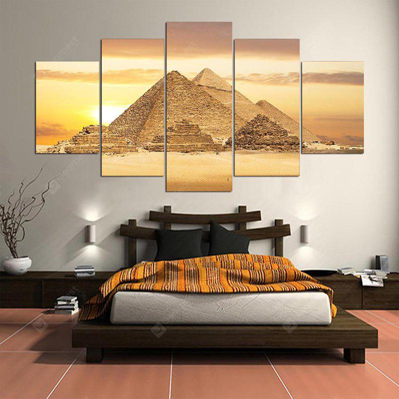 Pyramids Printed Unframed Split Canvas Paintings