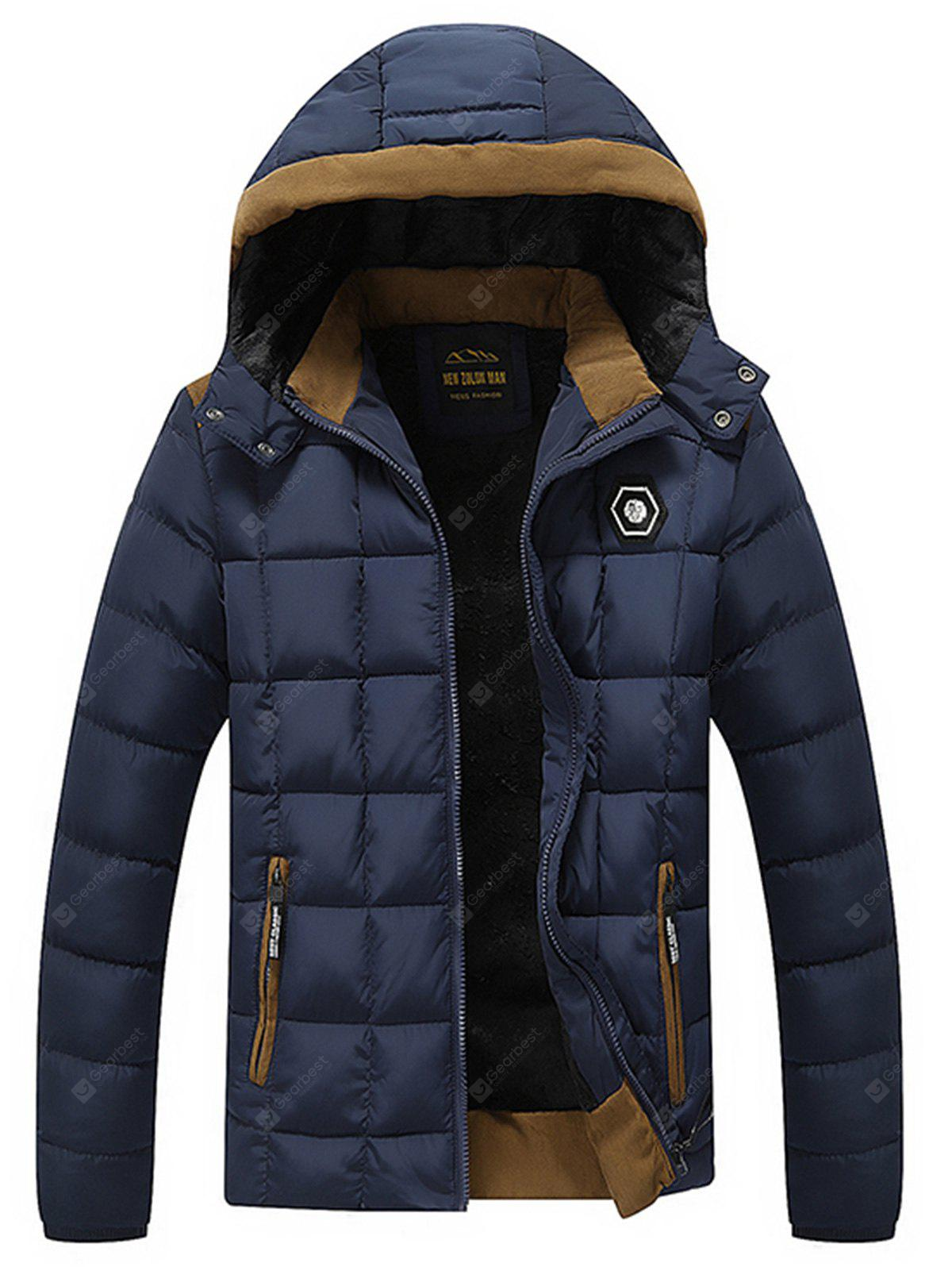 Metal Patched Quilted Puffer Jacket