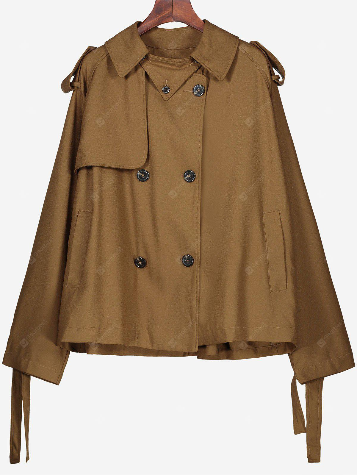 Plain Button Up Coat with Pockets