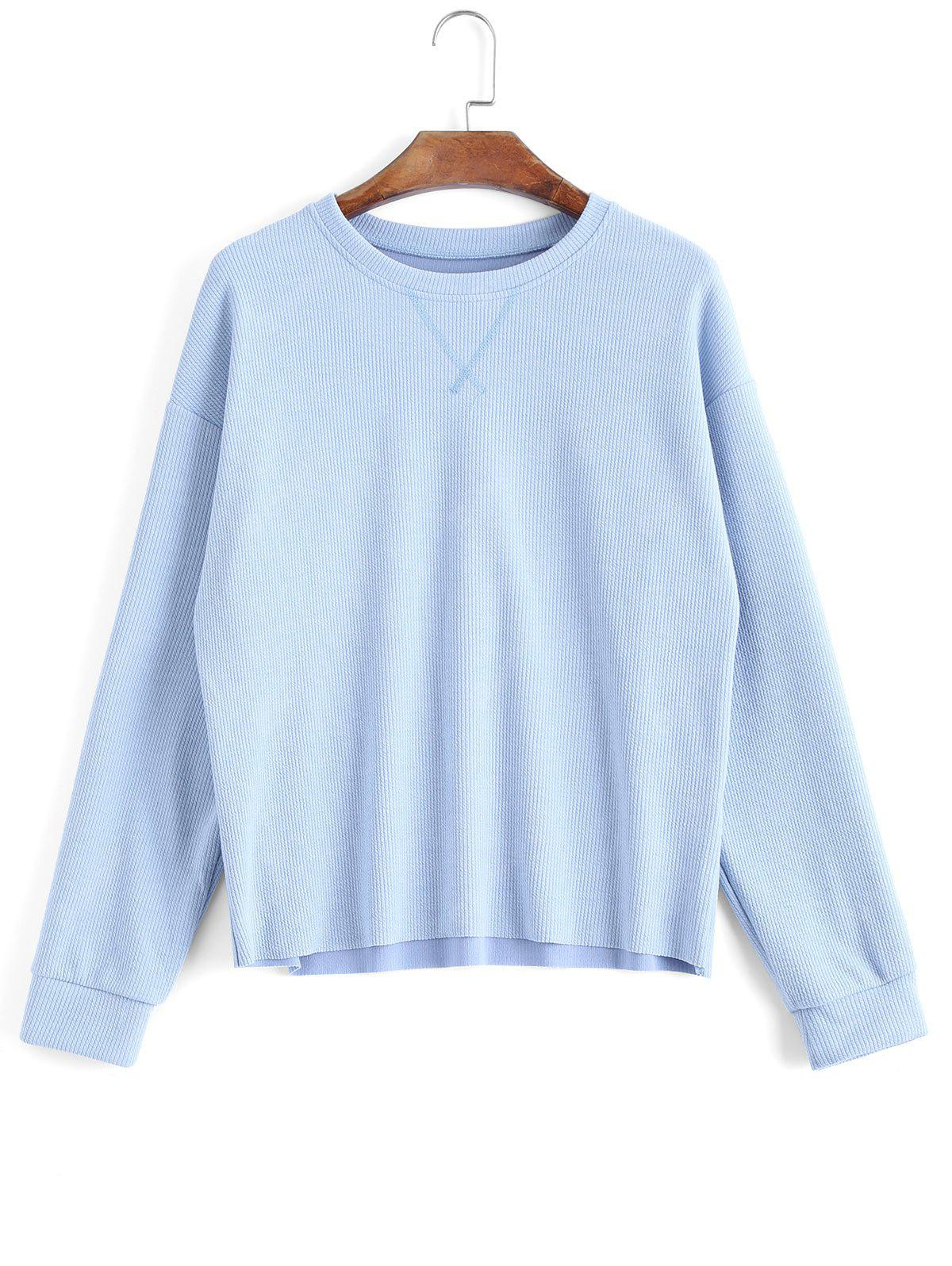 Knitted Ribbed Loose Sweatshirt