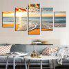 Sea Beach Pattern Unframed Leinwand Gemälde - FARBIG
