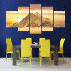 Pyramids Printed Unframed Split Canvas Paintings - GOLDEN