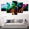 Colorful Smoke Printed Unframed Split Canvas Paintings - COLORFUL