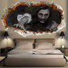3D Waterproof Halloween Zombie Wall Sticker - CINZA ESCURO