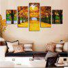 Maple Trees Printed Unframed Canvas Split Paintings - COLORFUL
